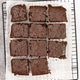 Chocolate brownie cakes  on grey stone background. - PhotoDune Item for Sale