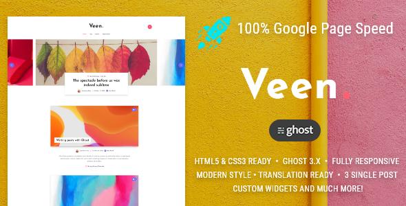 Veen - Minimal blog for Ghost by EstudioPatagon | ThemeForest