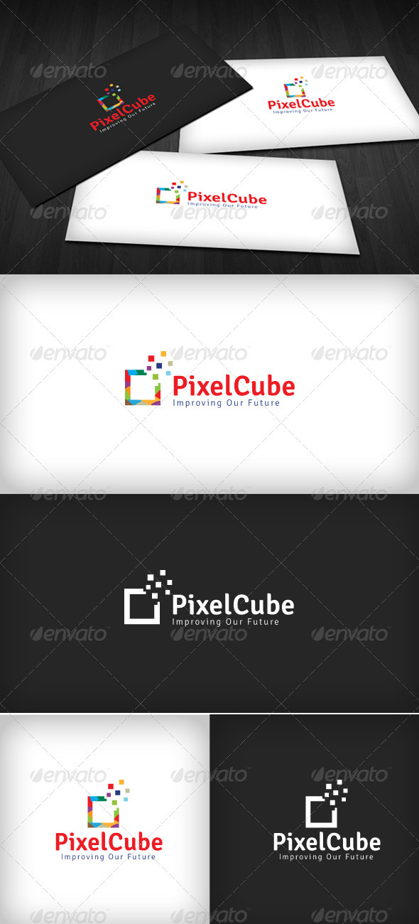 Pixel Cube Logo - Vector Abstract