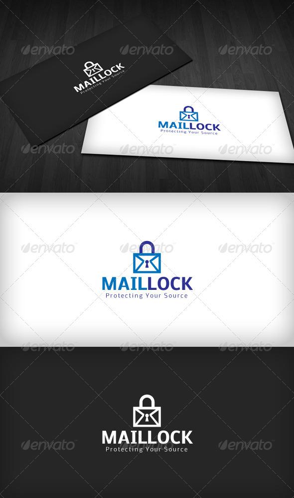Mail Lock Logo - Symbols Logo Templates