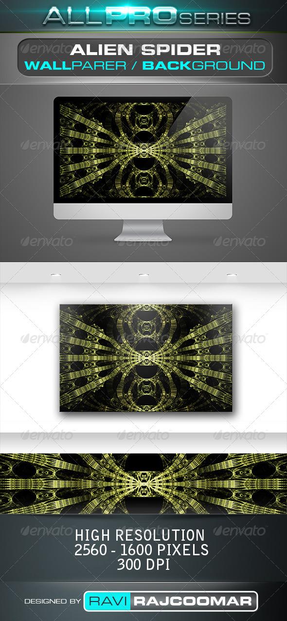 Alien Spider Wallpaper - Tech / Futuristic Backgrounds