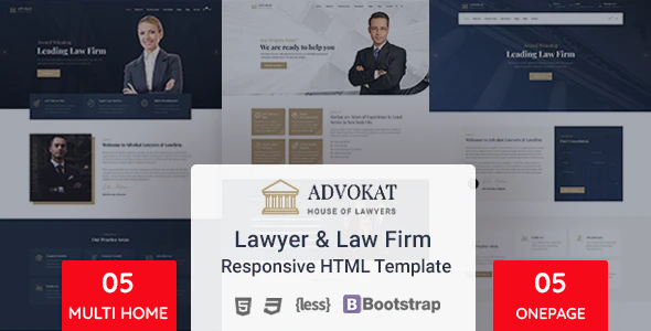 Advokat - Lawyer & Lawfirm HTML Template