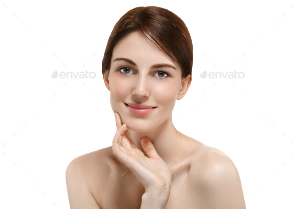 Beauty face skin young attractive model - Stock Photo - Images