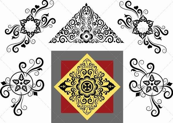 Floral patterns vector - Flourishes / Swirls Decorative
