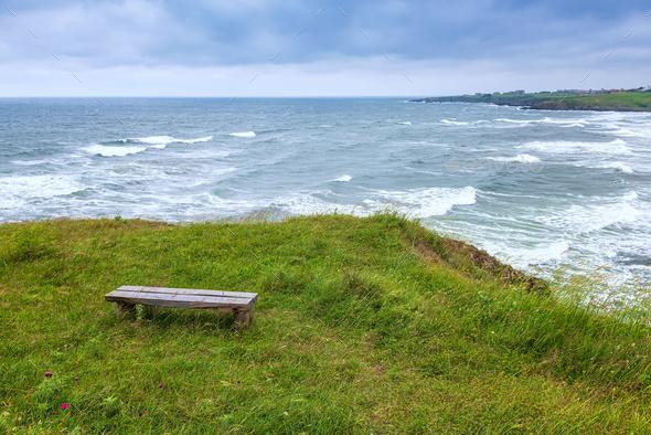 Wild beach at the Black sea coast - Stock Photo - Images