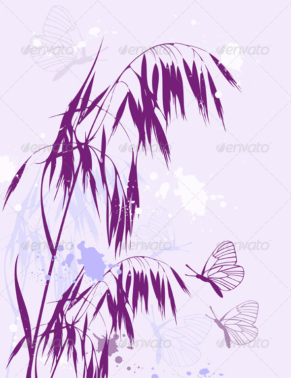 Violet Abstract Floral Background - Flowers & Plants Nature