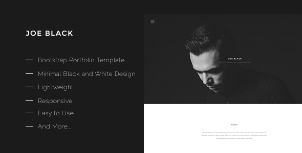 Great Joe Black-Bootstrap Portfolio Template