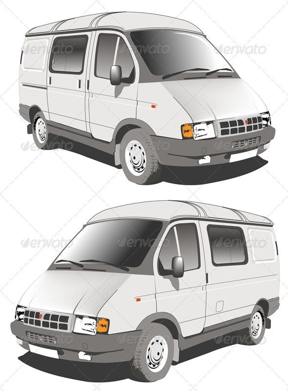 Vector Delivery Cargo Van - Man-made Objects Objects