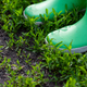 Person in boots standing on green grass - PhotoDune Item for Sale