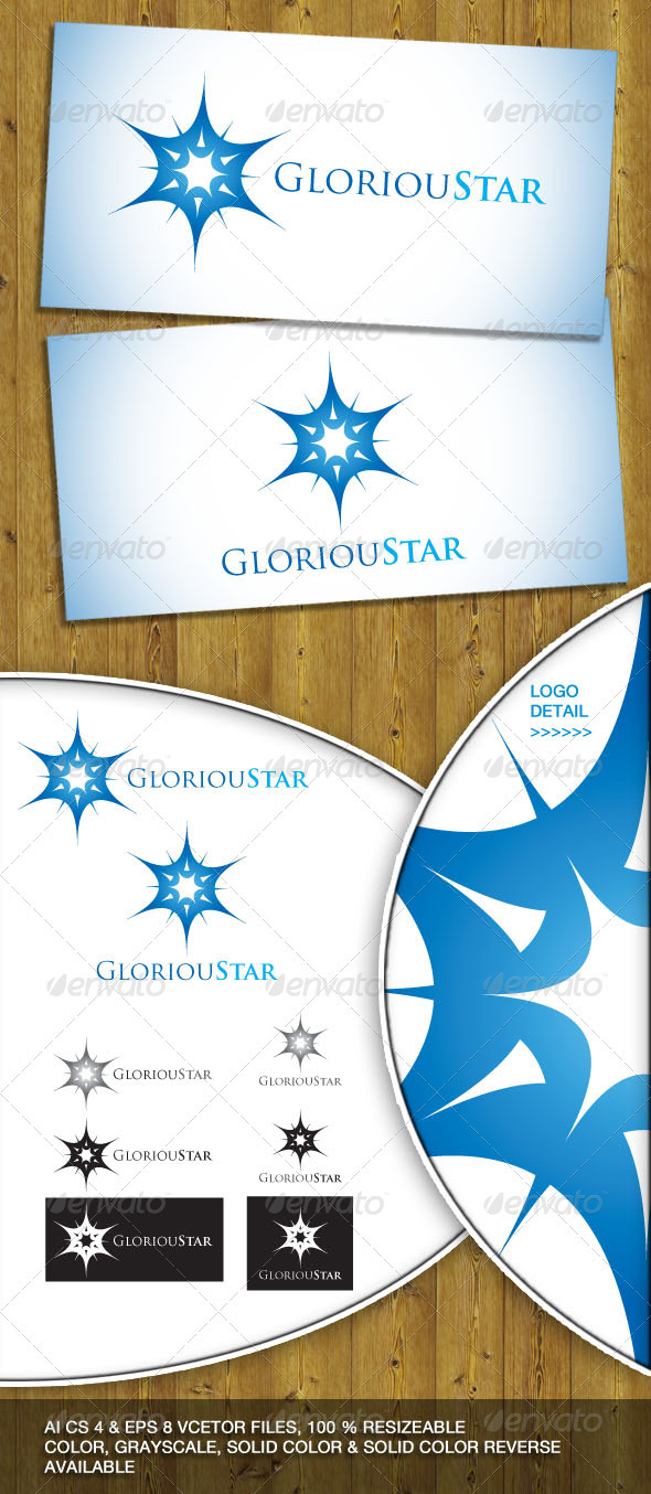 Glorious Star Logo - Vector Abstract