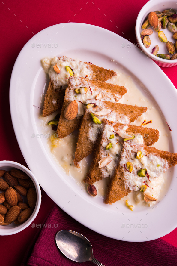 Shahi Tukda / Shahi Tukra / Double Ka Meetha - Stock Photo - Images