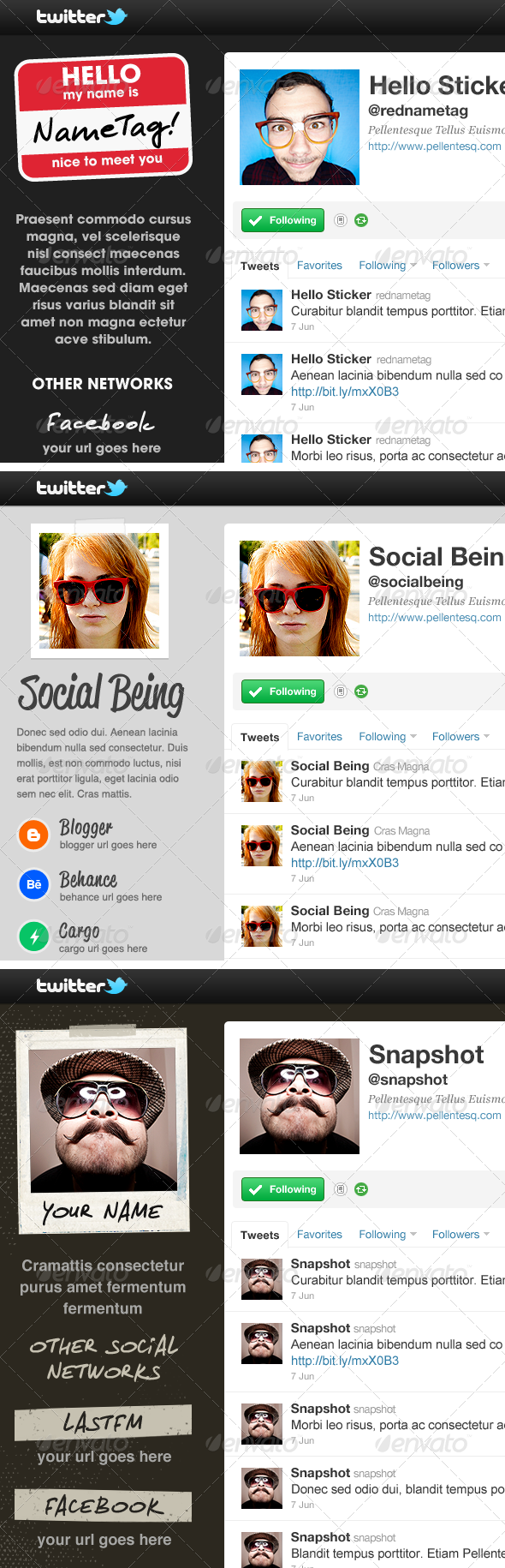 Twitter Background Bundle - Volume One - Twitter Social Media
