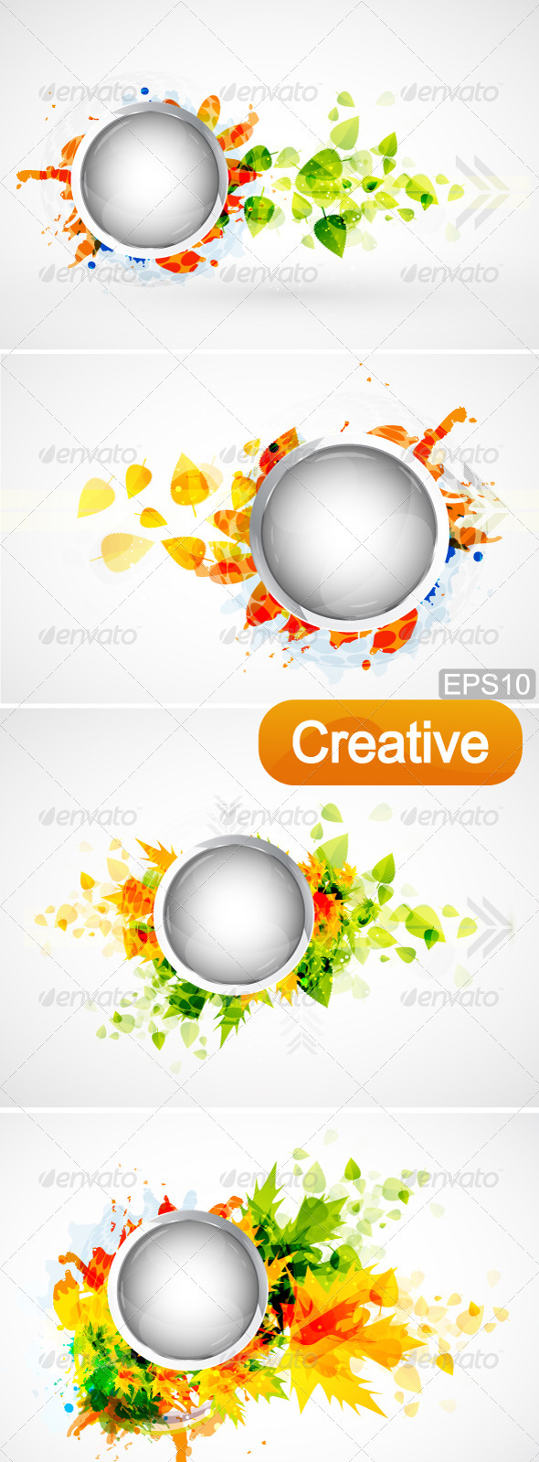 Creative Nature Design Elements - Decorative Symbols Decorative