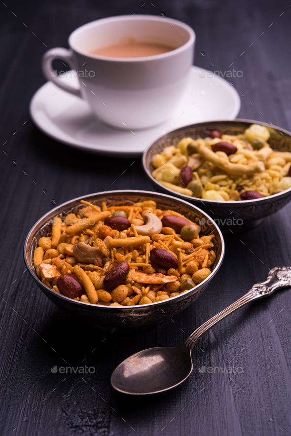 Farsan is an Indian Snack - Stock Photo - Images