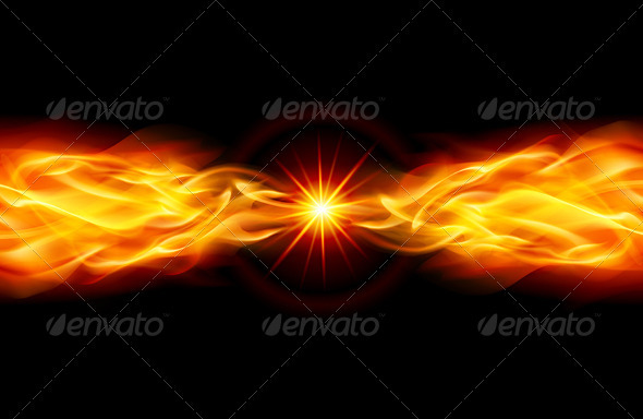 Bright fiery Star - Backgrounds Decorative