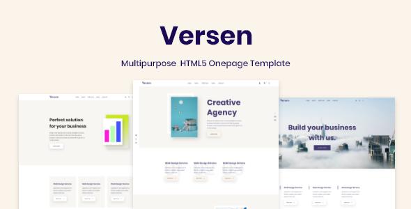 Versen - Multipurpose  HTML5 Onepage Template