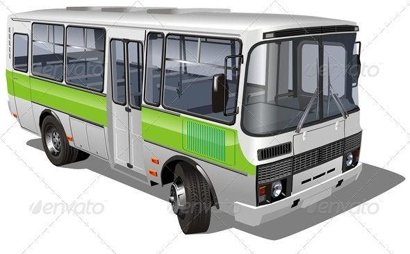Vector Mini Bus - Man-made Objects Objects