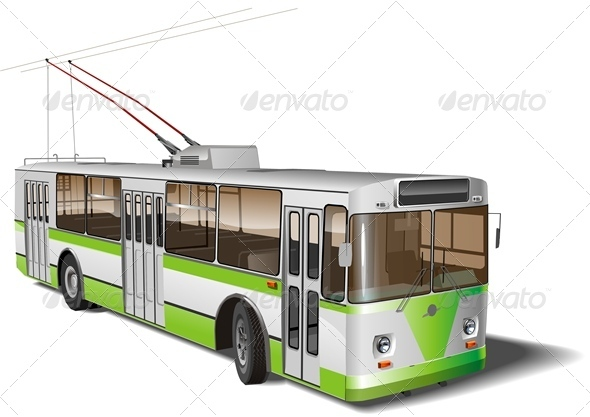 Vector Trolleybus - Man-made Objects Objects
