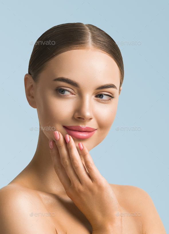 Woman Beauty Portrait. Natural classic make up - Stock Photo - Images