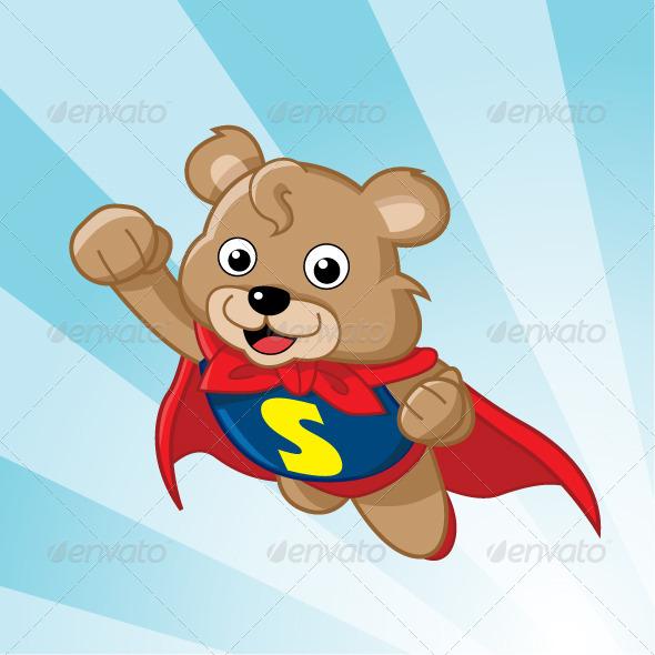 Super Bear - Characters Vectors
