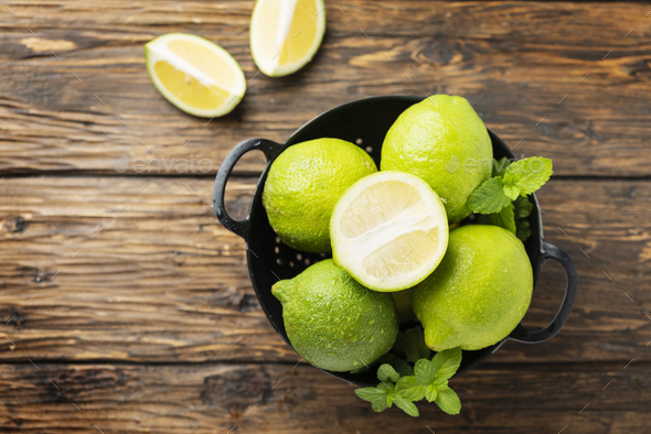 Fresh green limes - Stock Photo - Images