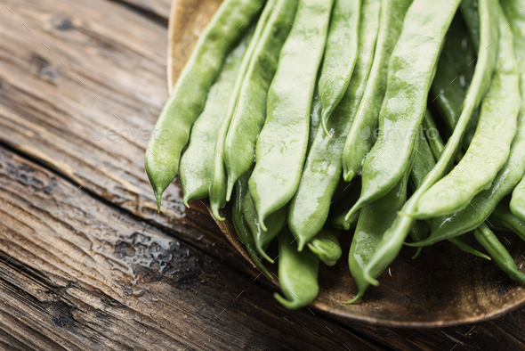 Raw fresh green beans - Stock Photo - Images