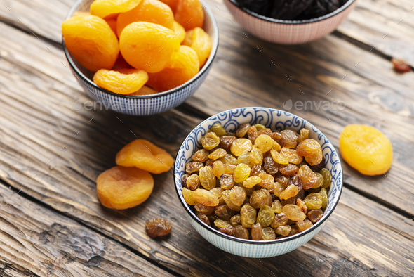 Concept of healthy meal with dried fruits - Stock Photo - Images