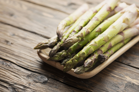 Raw spring asparagus - Stock Photo - Images