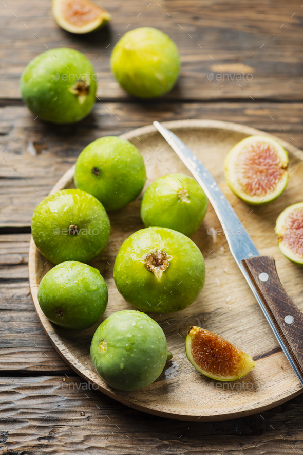 Sweet green figs - Stock Photo - Images