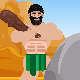 Funny Caveman Character Logo Reveal - VideoHive Item for Sale