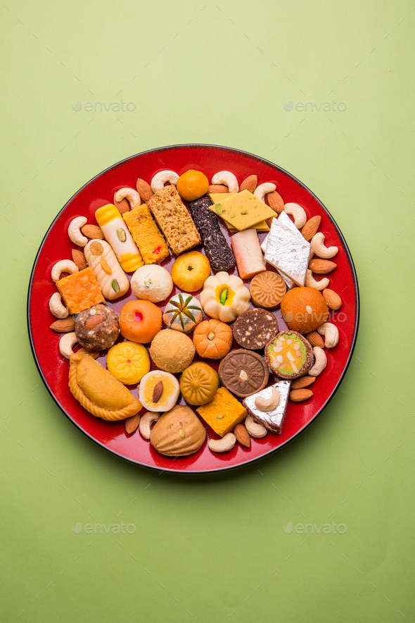 Indian Sweets or Mithai - Stock Photo - Images