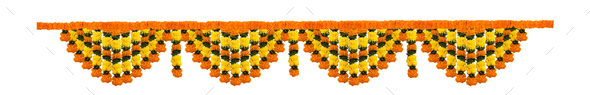 Flower Toran or Garland for Indian Festivals - Stock Photo - Images
