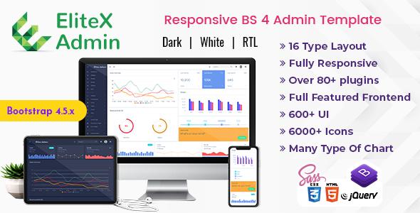 EliteX Admin - Bootstrap Admin Dashboard Template & User Interface