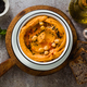 Delicious vegan hummus with sweet potato and canned artichokes. - PhotoDune Item for Sale