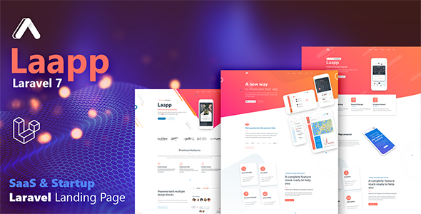 Laapp - Laravel App Landing Page