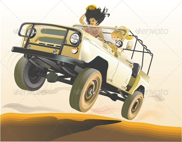Vector Jeep - Man-made Objects Objects