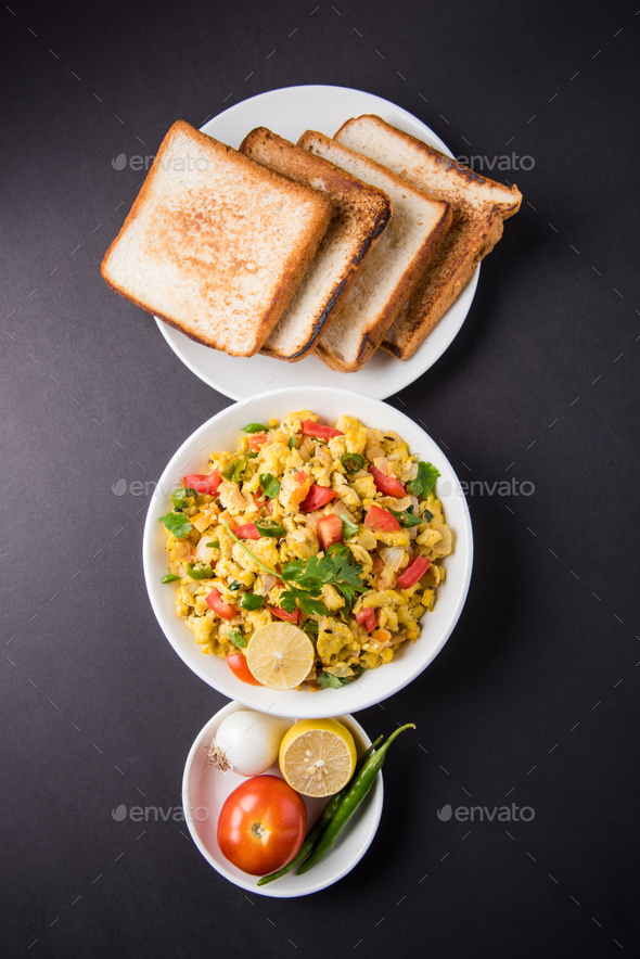 Indian Anda Bhurji - Stock Photo - Images