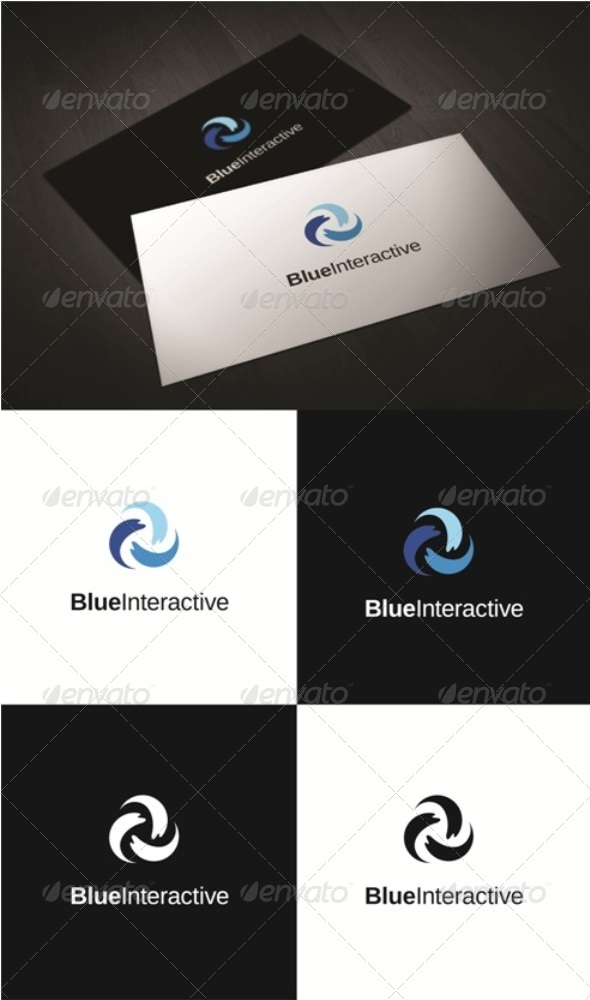 Blue Interactive - Symbols Logo Templates
