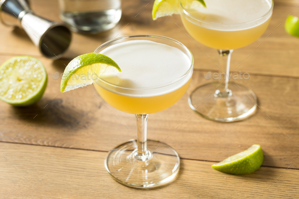 Refreshing Boozy Gin Gimlet - Stock Photo - Images