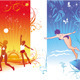 Vector Summer Beach Sports - GraphicRiver Item for Sale