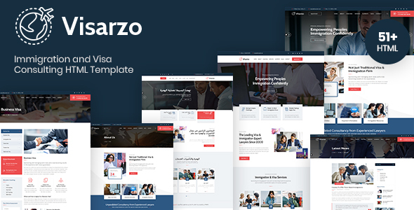 Visarzo – Immigration and Visa Consulting HTML Template