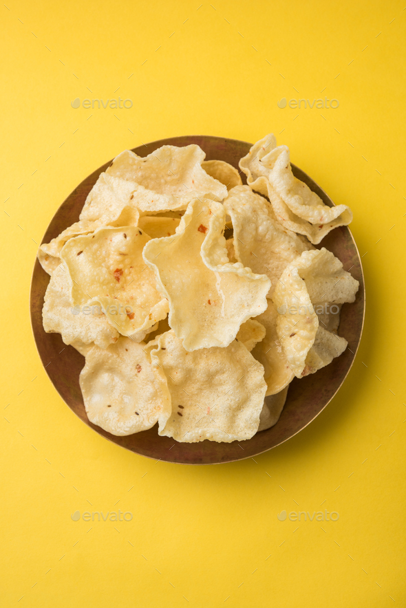 Papadum / Roasted Crackers / Papad - Stock Photo - Images