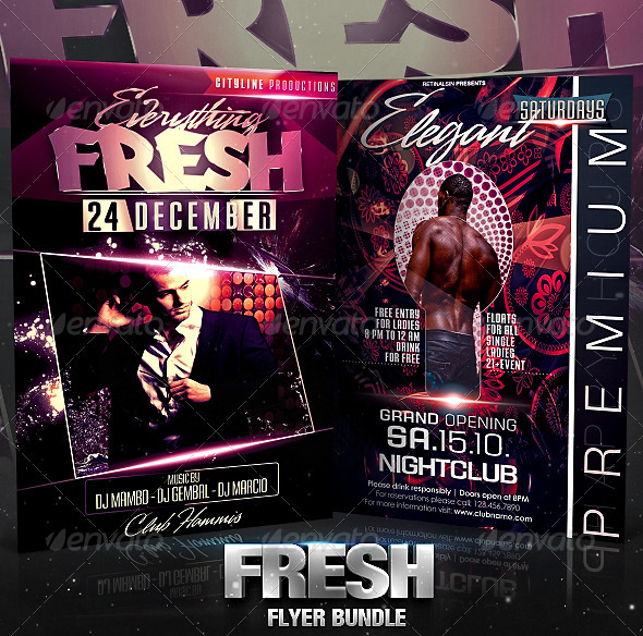 Fresh Flyer Bundle - Clubs & Parties Events