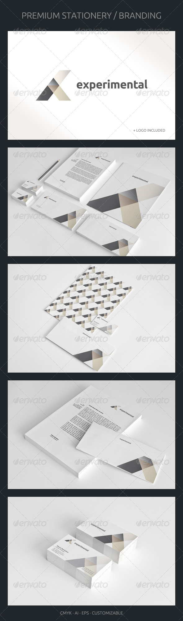 Experimental - Corporate Identity - Stationery Print Templates
