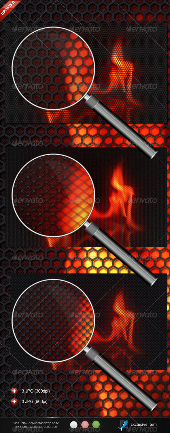 Burning Carbon - Backgrounds Graphics