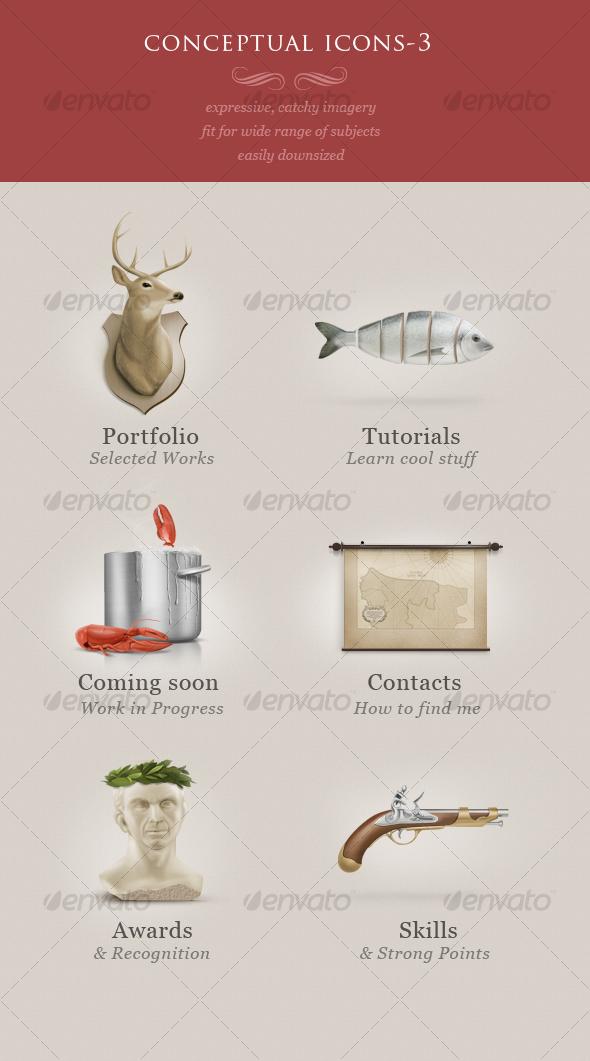 conceptual icons vol.3 - Web Icons