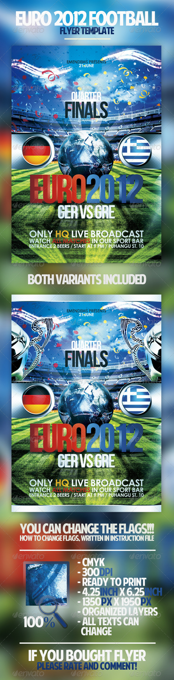 Euro 2012 Football Flyer - Sports Events