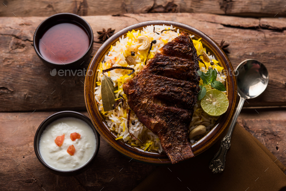 Fish Biryani - Stock Photo - Images