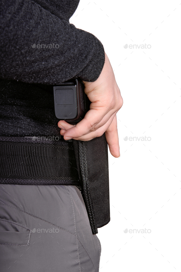 Hand with a gun - Stock Photo - Images