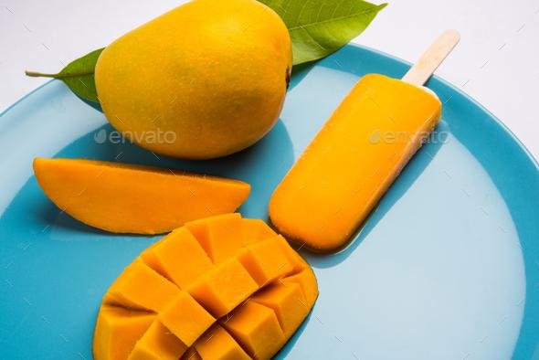 Mango Flavoured Ice Bar - Stock Photo - Images